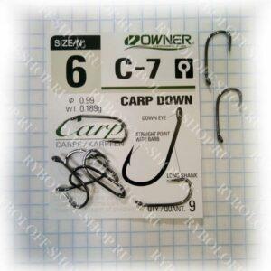 Купить крючки Owner C-7 Carp down в интернет магазине Ryboloff-shop.ru